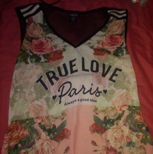 Juniors Rue 21 Graphic Long Shirt